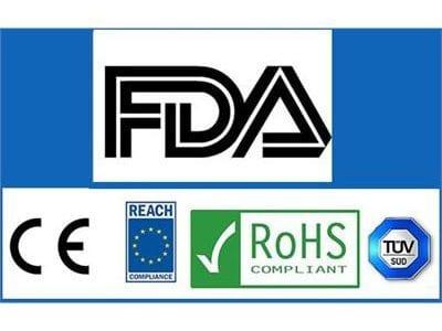CE, REACH, ROHS, TUV, FDA Logos